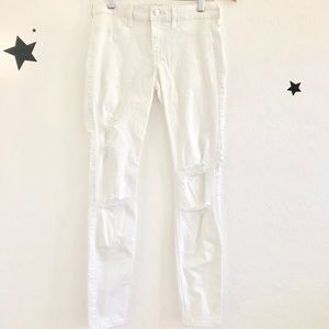 Hollister Low Rise White Jeans